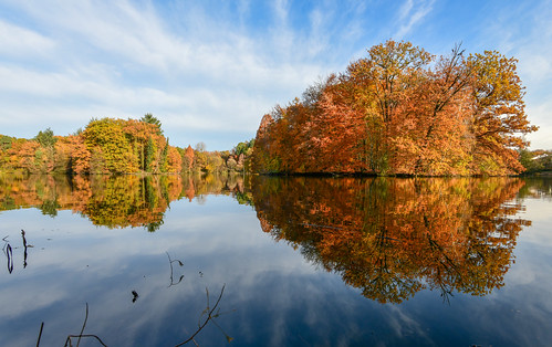 landscape reflection nature photography autumn