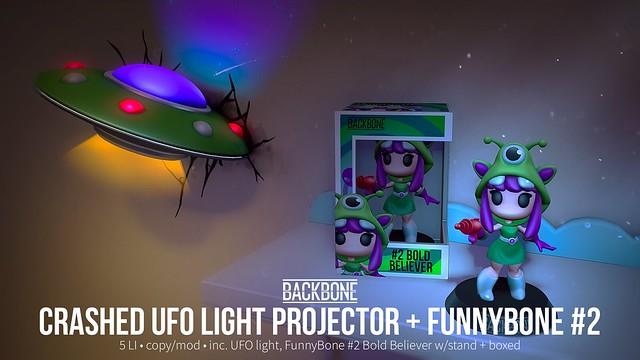 BackBone Crashed UFO Light Projector + FunnyBone #2