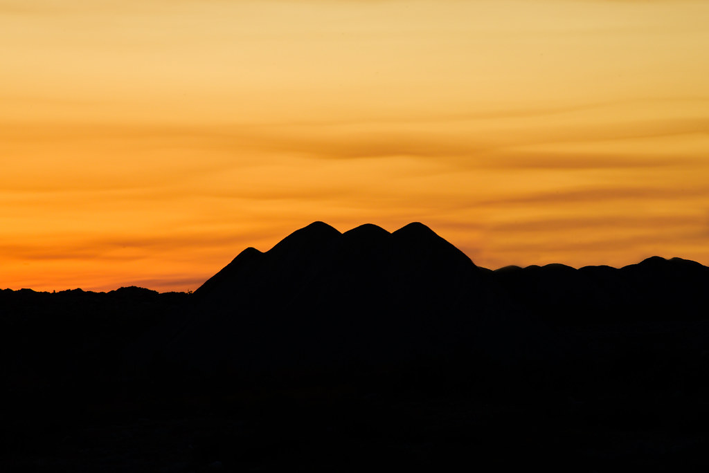 Gravel Mounds At Sunset