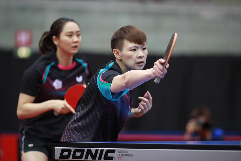 鄭先知、陳思羽。(圖/ITTF提供)