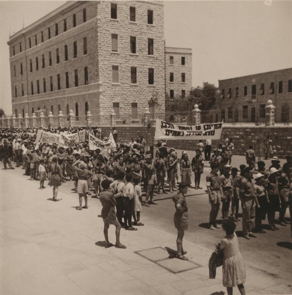 30. Иерусалим. Еврейский протест против Белой Книги
