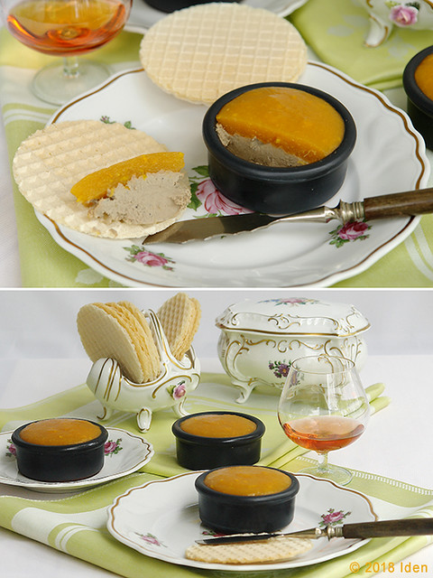 Паштет из гусиной печенки под желе из мушмулы и апельсина