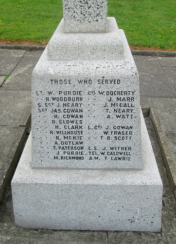 Kirkoswald War Memorial: Those Who Served