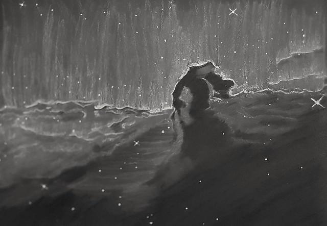Barnard 33 The Horsehead Nebula Sketch