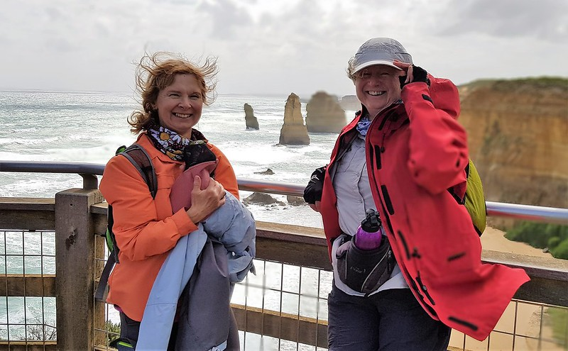 Walkers at the 12 apostles