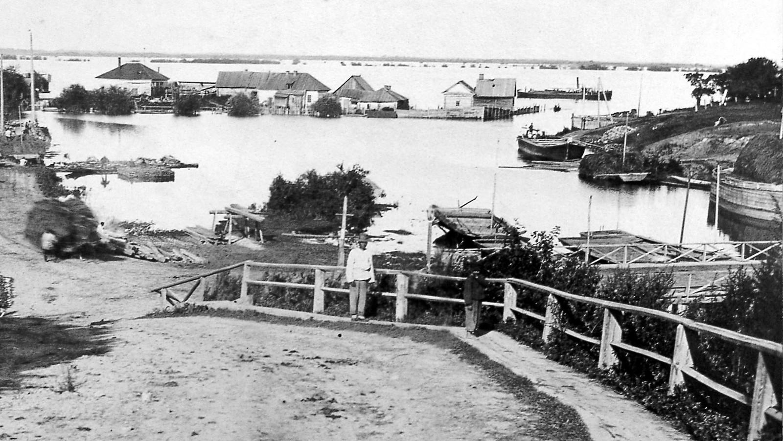 10. Затопленное устье р. Чердымовки. 1896
