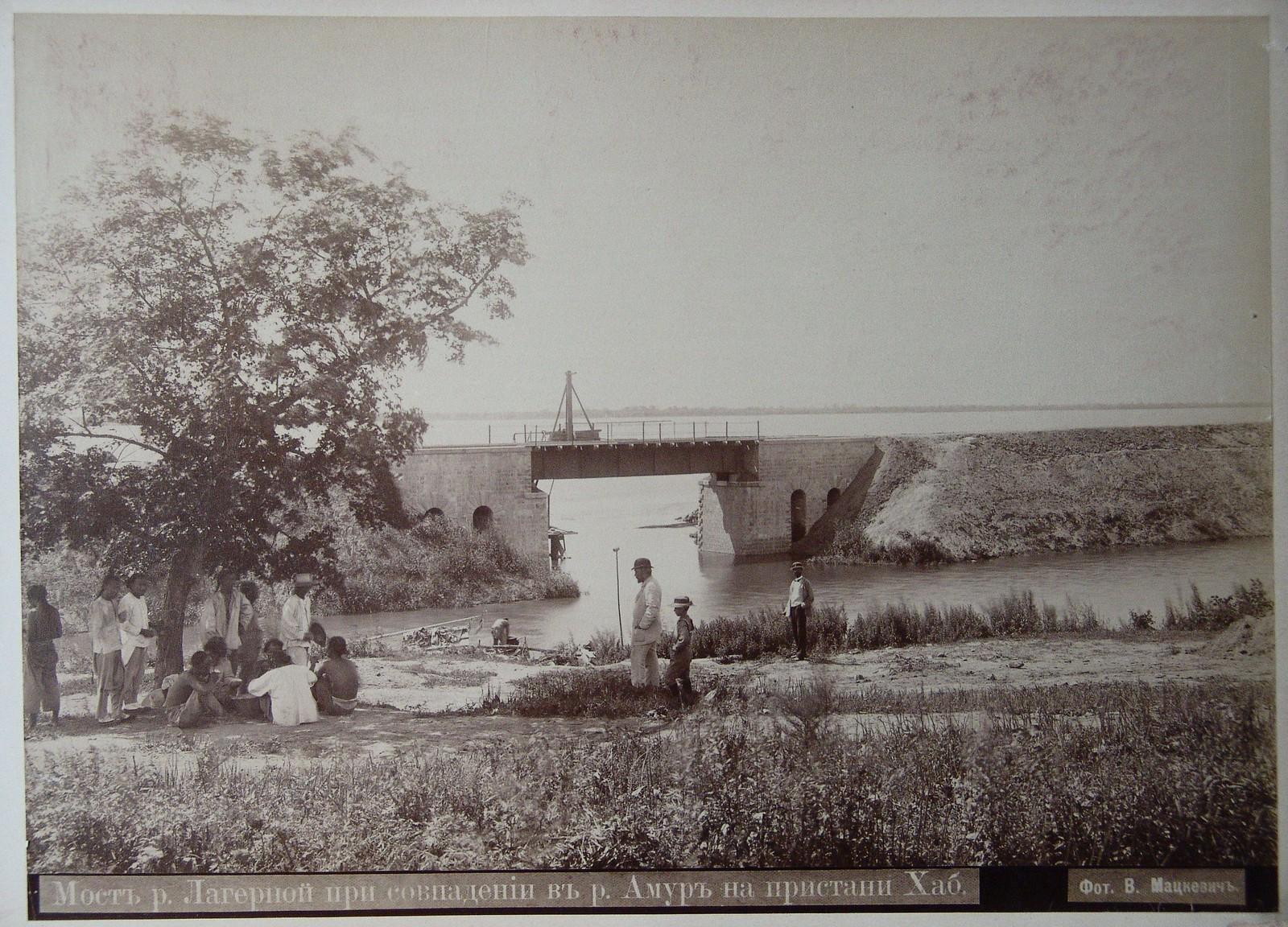 03. Мост реки Лагерной при совпадении с р. Амур на пристани