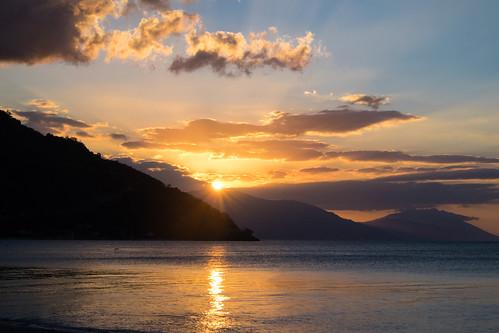 philippines puertogalera sunset sea mindoro