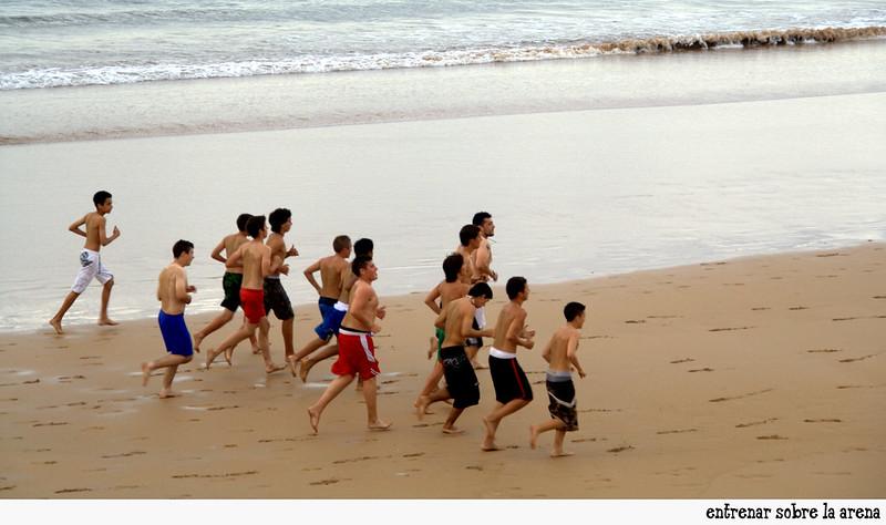 entrenar sobre la arena