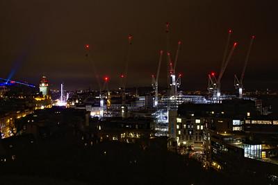 St James Cranes at Night