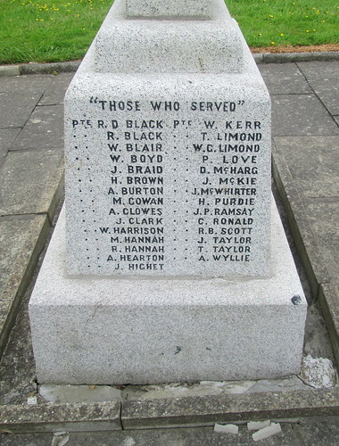 """Those Who Served"" Kirkoswald War Memorial 4"