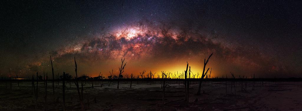 Milky Way at Yenyening Lakes, Western Australia