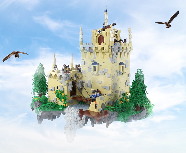 LEGO Floating Rock Flying Castle