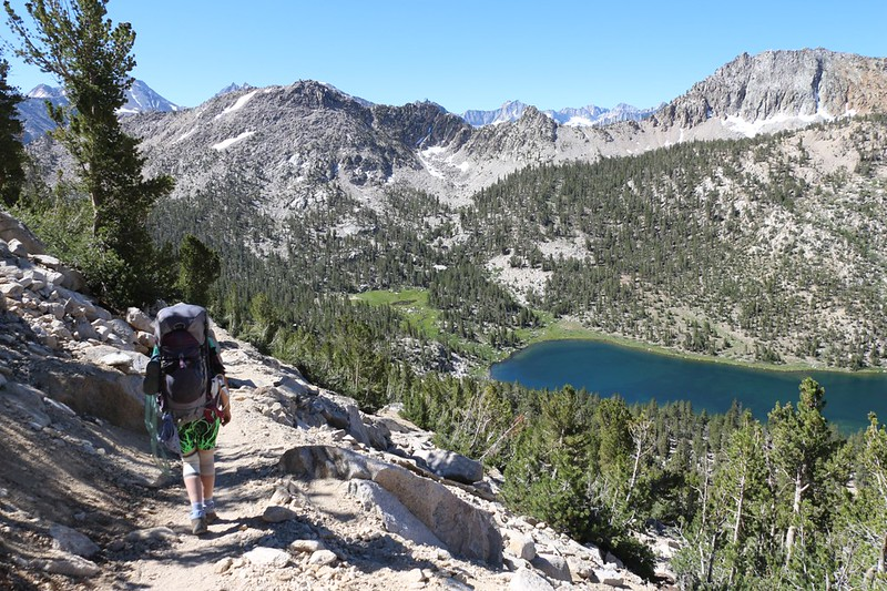 The Pacific Crest Trail stays high above Charlotte Lake