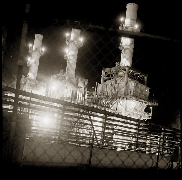 Rodeo Refinery by Night