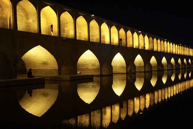 Iran, Isfahan - Si-o-se-pol bridge - October 2019