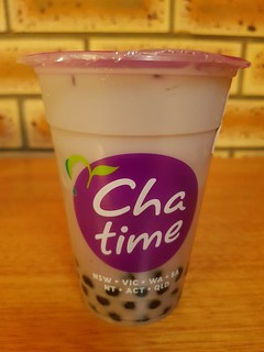 Taro Soy Milk Tea with Pearls from Cha Time