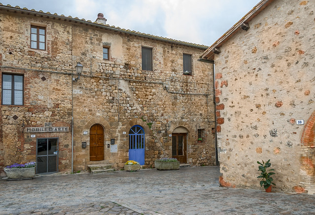 Stone Houses in Monteriggioni