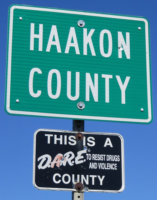 Haakon County Sign (Haakon County, South Dakota)