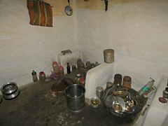 inside a local house, the kitchen