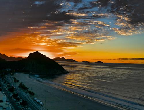 Sunrise at Copacobana Rio de Janeiro Brazil