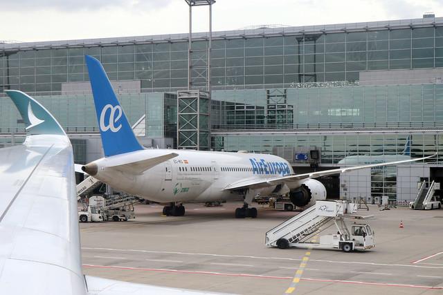 Air Europa B787-8 EC-MIG parked at FRA/EDDF
