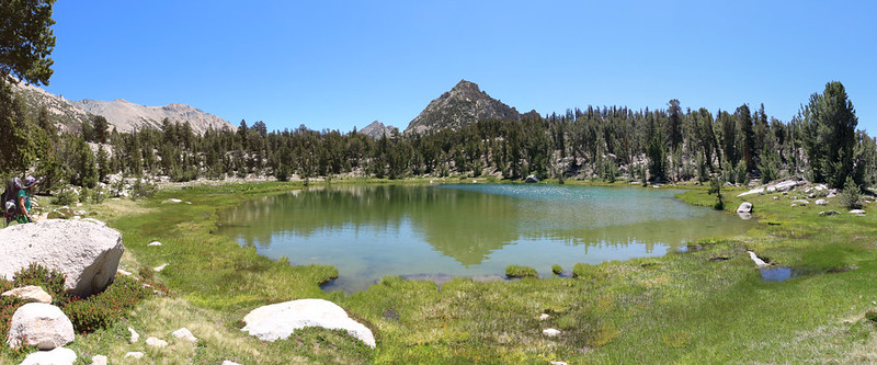Panorama of the small pond near Bullfrog Lake from the Bullfrog Lake Trail