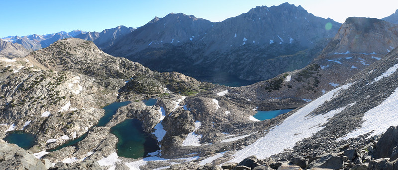 Our final view of the Rae Lakes Basin from Glen Pass - Good-bye Rae Lakes! You were beautiful!