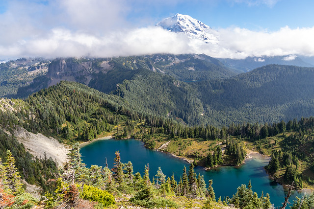 Mount Rainier above Eunice Lake