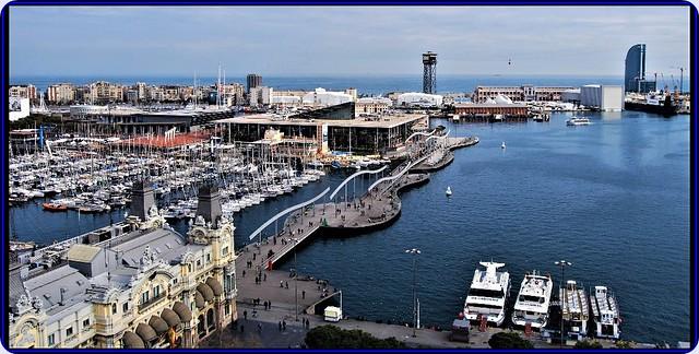Touristic harbour of Barcelona - panorama