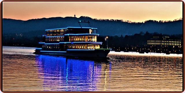 Evening on Zurich lake