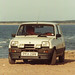 Renault 5 by the seaside