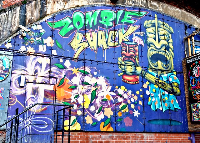Zombie Shack mural in Manchester