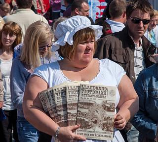 Programme seller, Llandudno - 7 Apr 2007