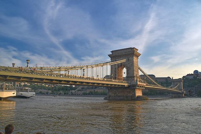 Széchenyi Chain Bridge, Budapest, Hungary.