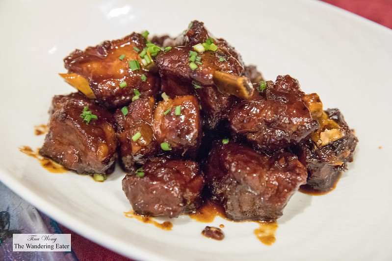 Deep fried short ribs with black vinegar sauce