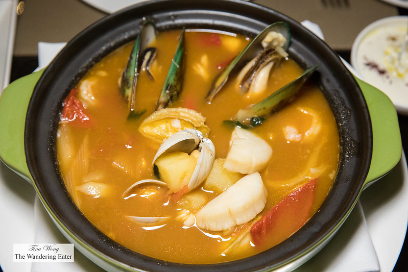 Seafood Stew, Abalone - made with clams, haddock, and New Zealand mussels