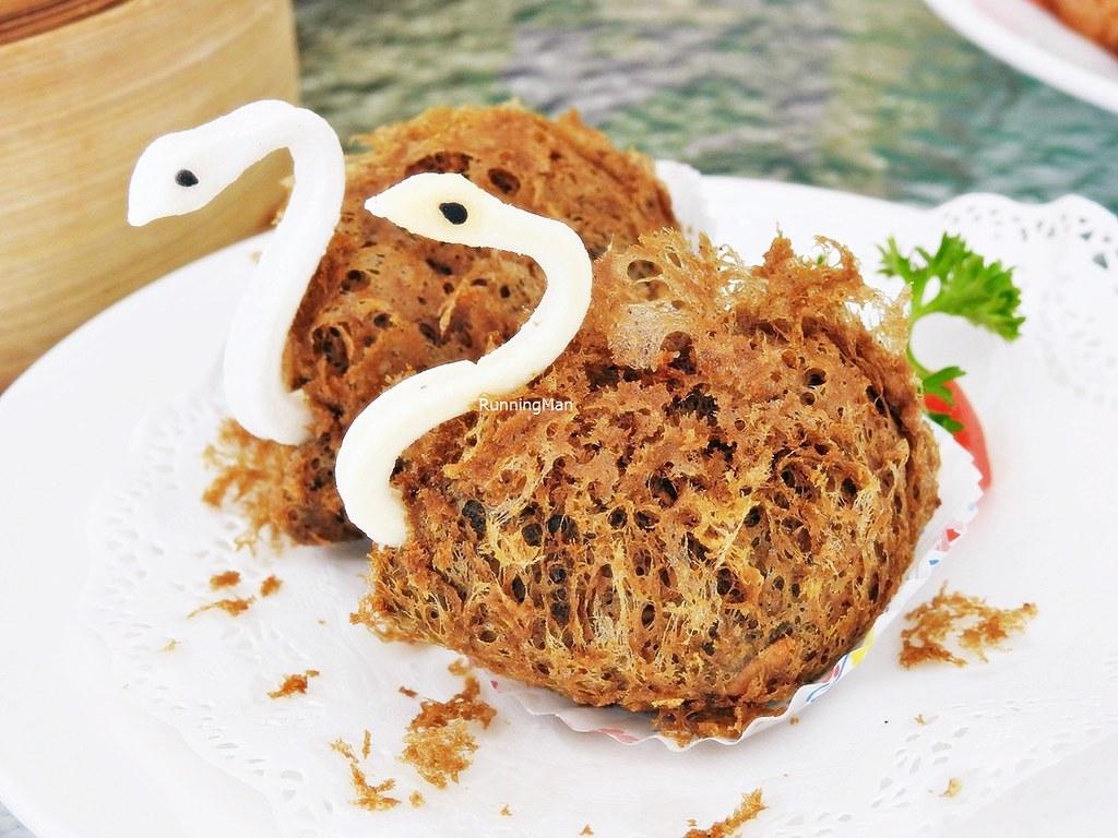 Crispy Prawns, Satay Chicken, Yam Taro Dumplings