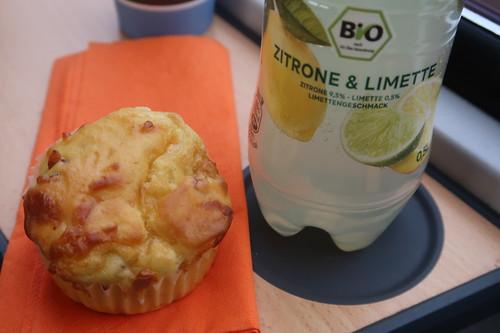 Käse Schinken Muffin zur ViO BiO Limo Zitrone & Limette