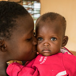 A mother and daughter portrayed at the Nadoba health center after receiving vaccinations (2) - Reinier van Oorsouw & UNICEF Togo :copyright: - 2019