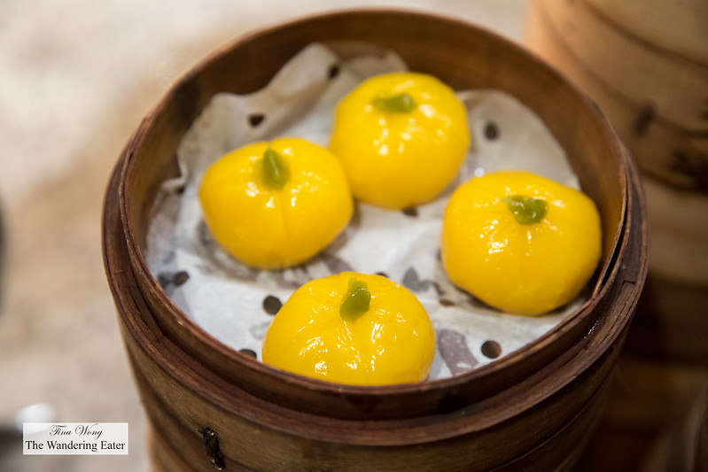 Steamed pumpkin dumplings at Cafe Zest