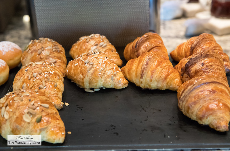 Multi-grain and plain croissants at the Mandarin Oriental Club lounge