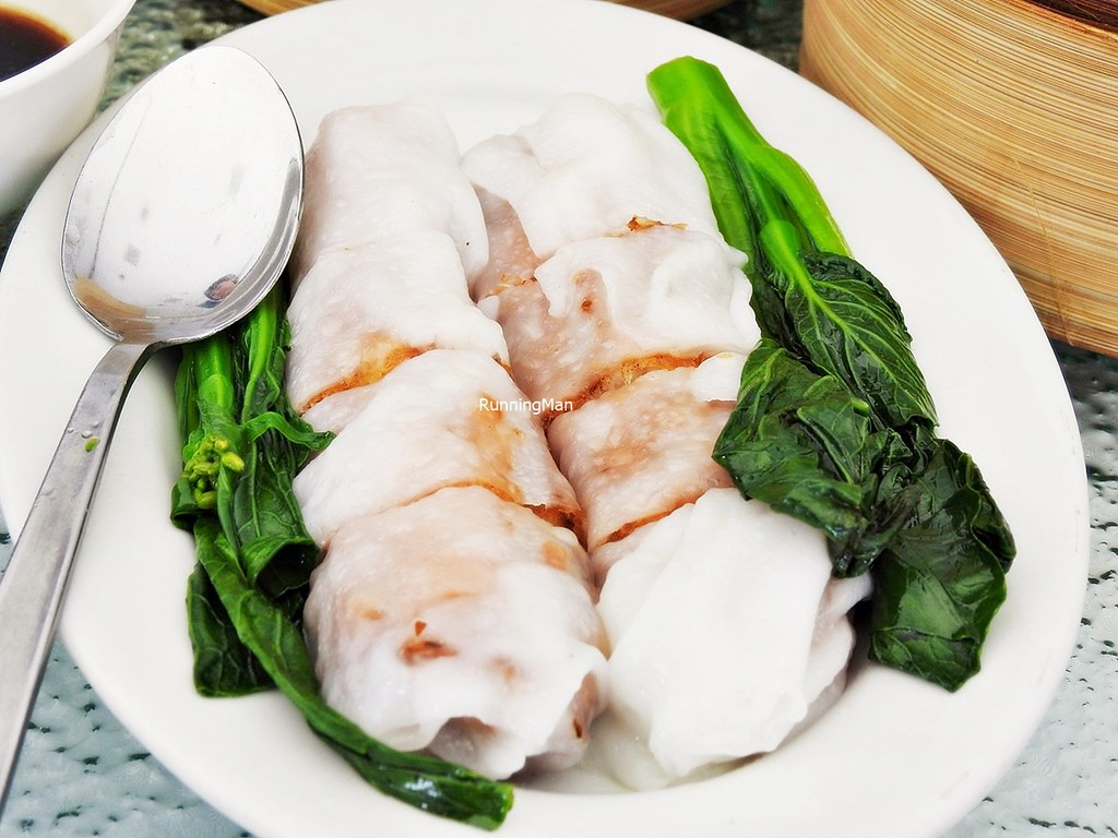Steamed Rice Rolls With Squid Paste & Fried Dough Fritters