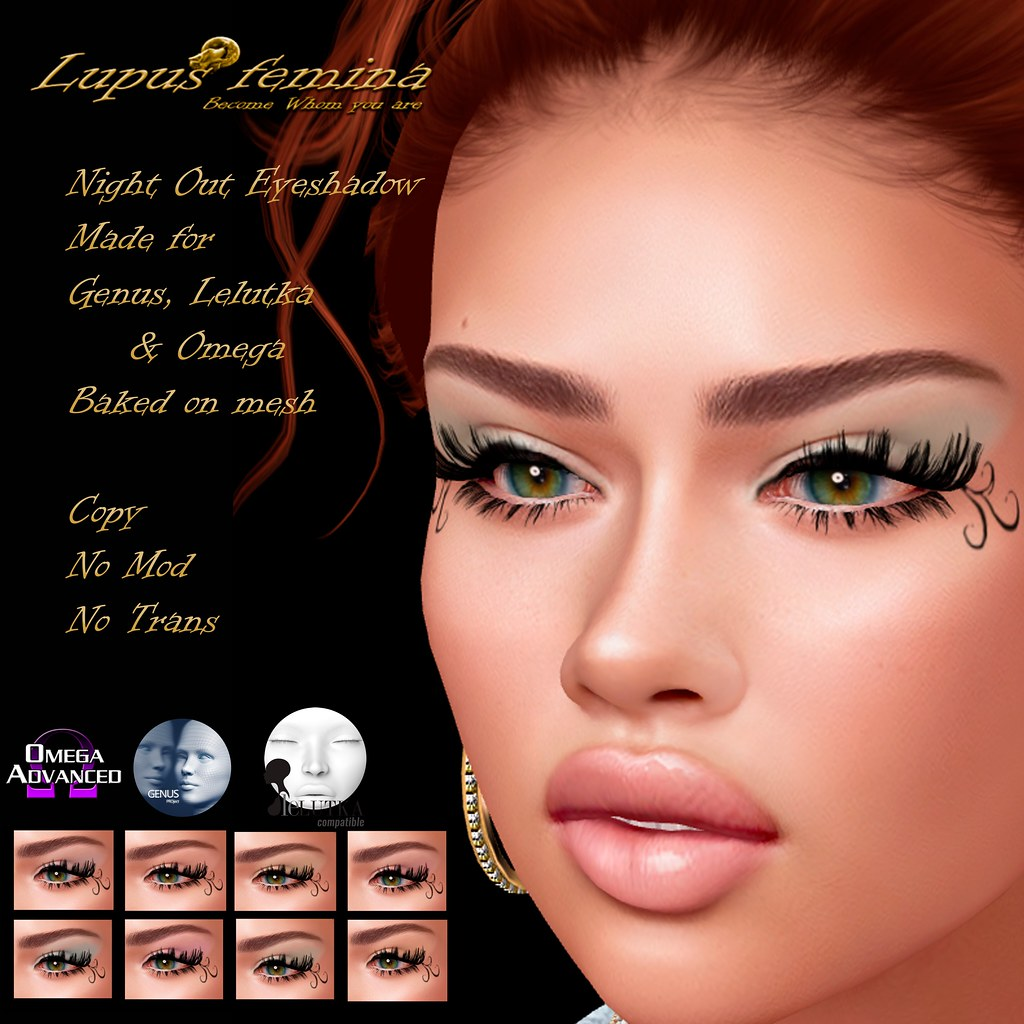 """Lupus Femina"" Night Out eyeshadow – W/ appl. + BOM"