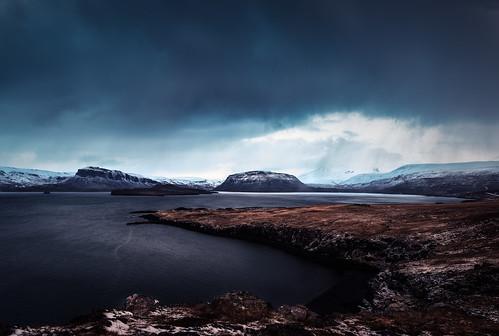 Hvalfjörður - winter landscape