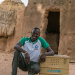 N'bana N'sacra (47) and his work kit in front of his house - Reinier van Oorsouw & UNICEF Togo :copyright: - 2019