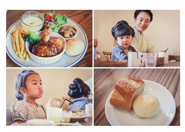 カフェ「マリメロ」のランチ 愛知県尾張旭市 ハンバーグ パン