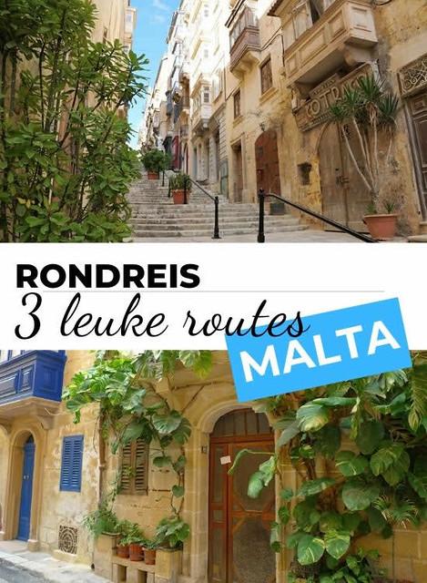 Rondreis Malta: bekijk 3 leuke routes en plan je rondreis Malta   Malta & Gozo