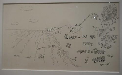 """""""Sortie à la mer"""", exposition """"Sempé en liberté"""", musée mer marine, rue des Etrangers, Bacalan, Bordeaux, Gironde, Nouvelle-Aquitaine, France."""