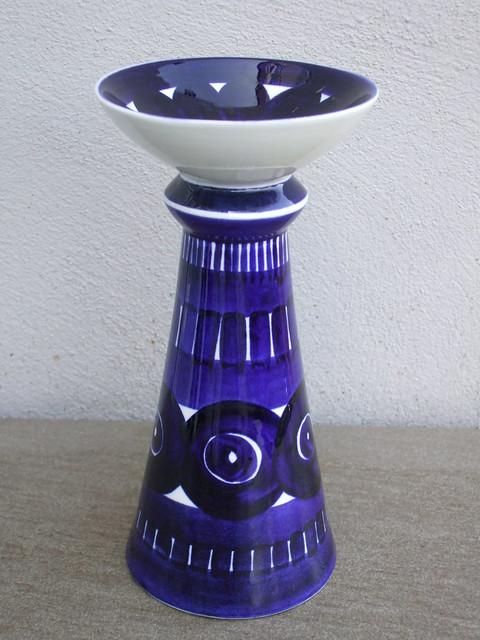 Vintage Arabia Ulla Procope Mid Century Modern Ceramic Candlestick Made in Finland
